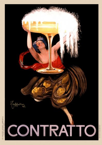 Contratto Asti Champagne 1922 Italy - Vintage Advertising Print/Poster. Sizes: A4/A3/A2/A1 (003296)